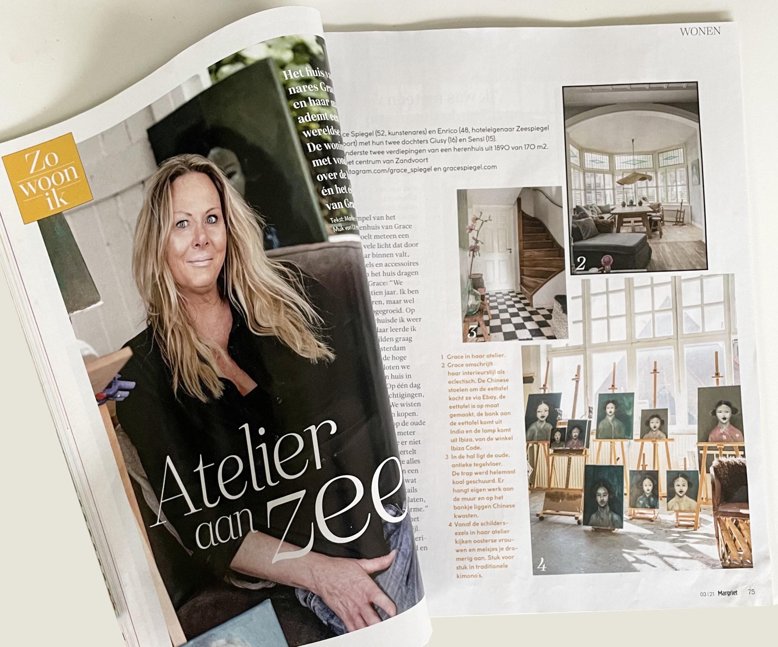 YOW Grace Spiegel Magriet Zo woon ik Atelier aan Zee